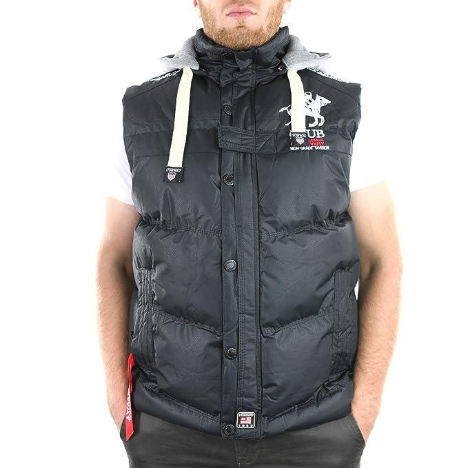 Geographical Norway VINYL BK Senza braccia giacca uomo