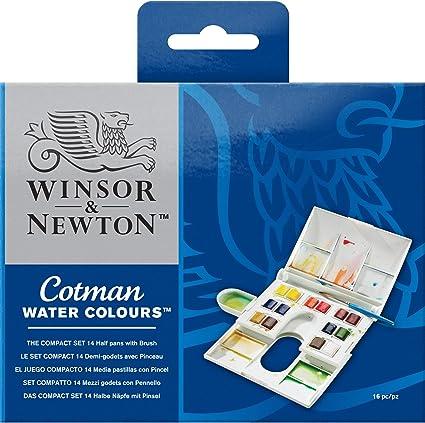 Winsor Newton Cotman La Compact Boite D Aquarelle 14 Demi Godets