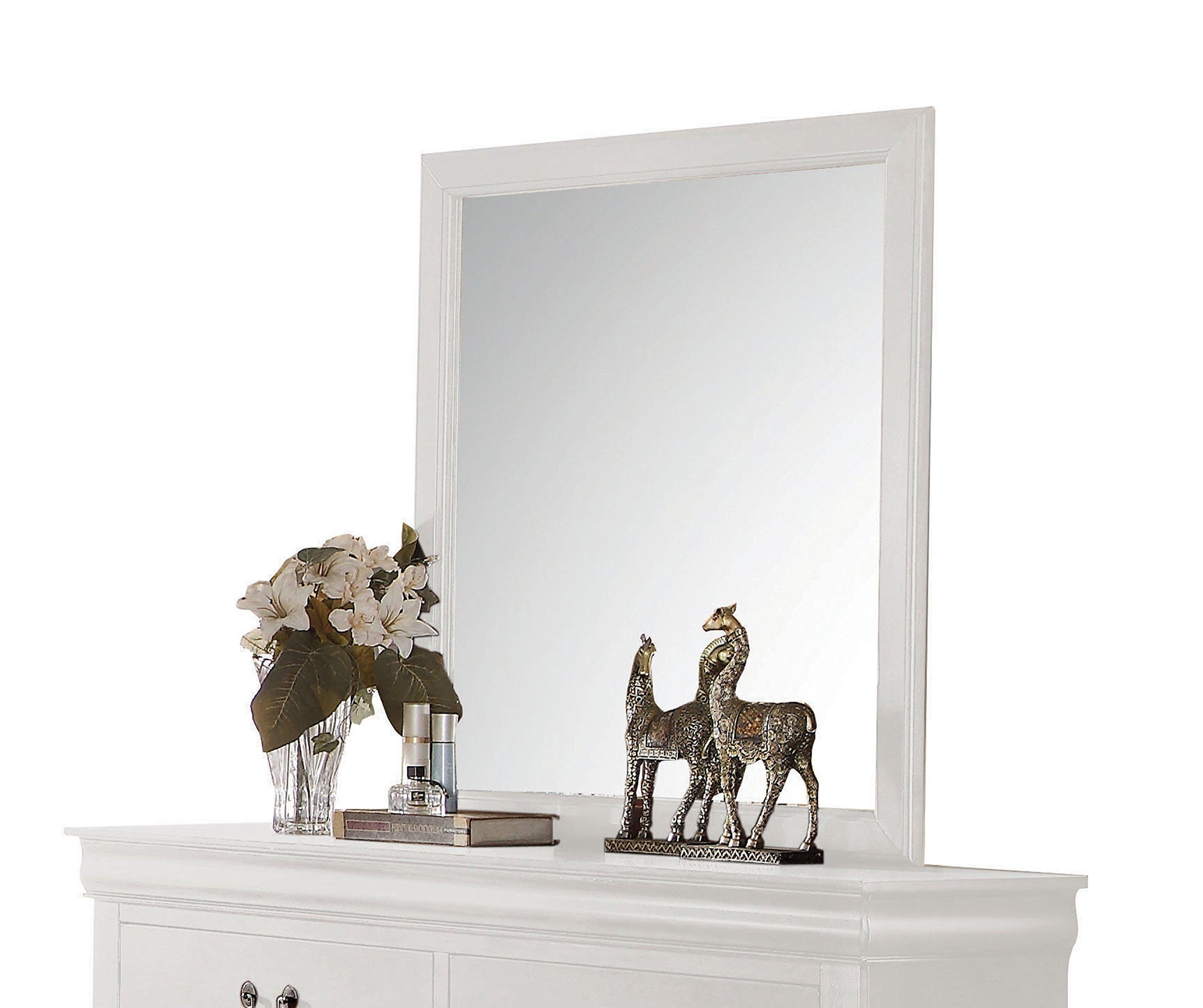 Acme Furniture 23834 Louis Philippe Mirror, White