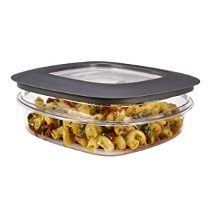 Rubbermaid Premier Easy Find Lids 3-Cup Meal Prep and Food Storage Container, Grey |BPA-Free & Stain Resistant
