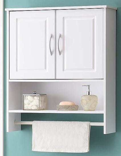 . 4D Concepts Bathroom 2 Door Wall Cabinet  White