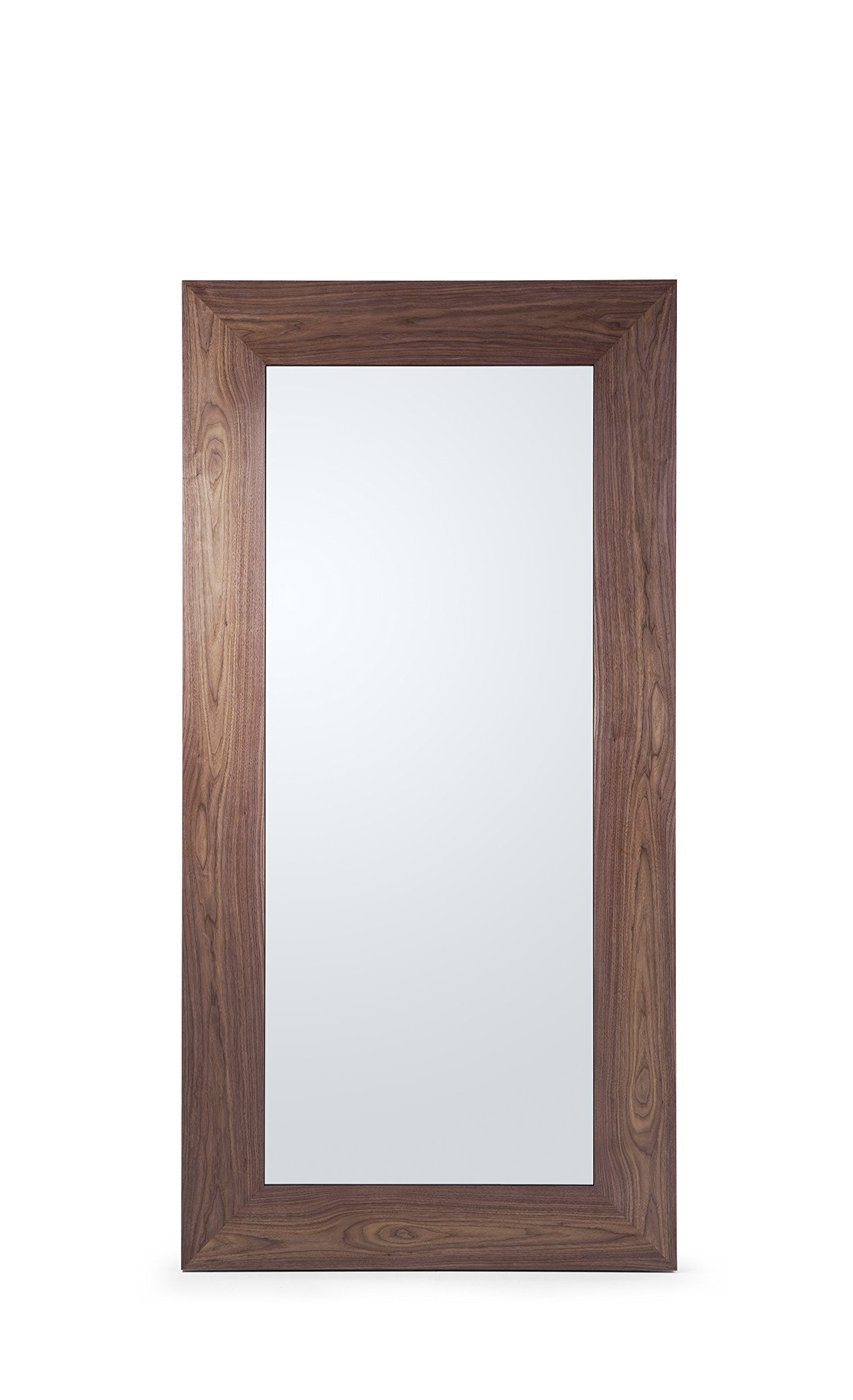 "Whiteline Furniture Fox Floor Mirror - HIGH GLOSS NATURAL WALNUT FRAME. W47"" D2"" H94"" WOOD - mirrors-bedroom-decor, bedroom-decor, bedroom - 81CuBN1OZ4L -"