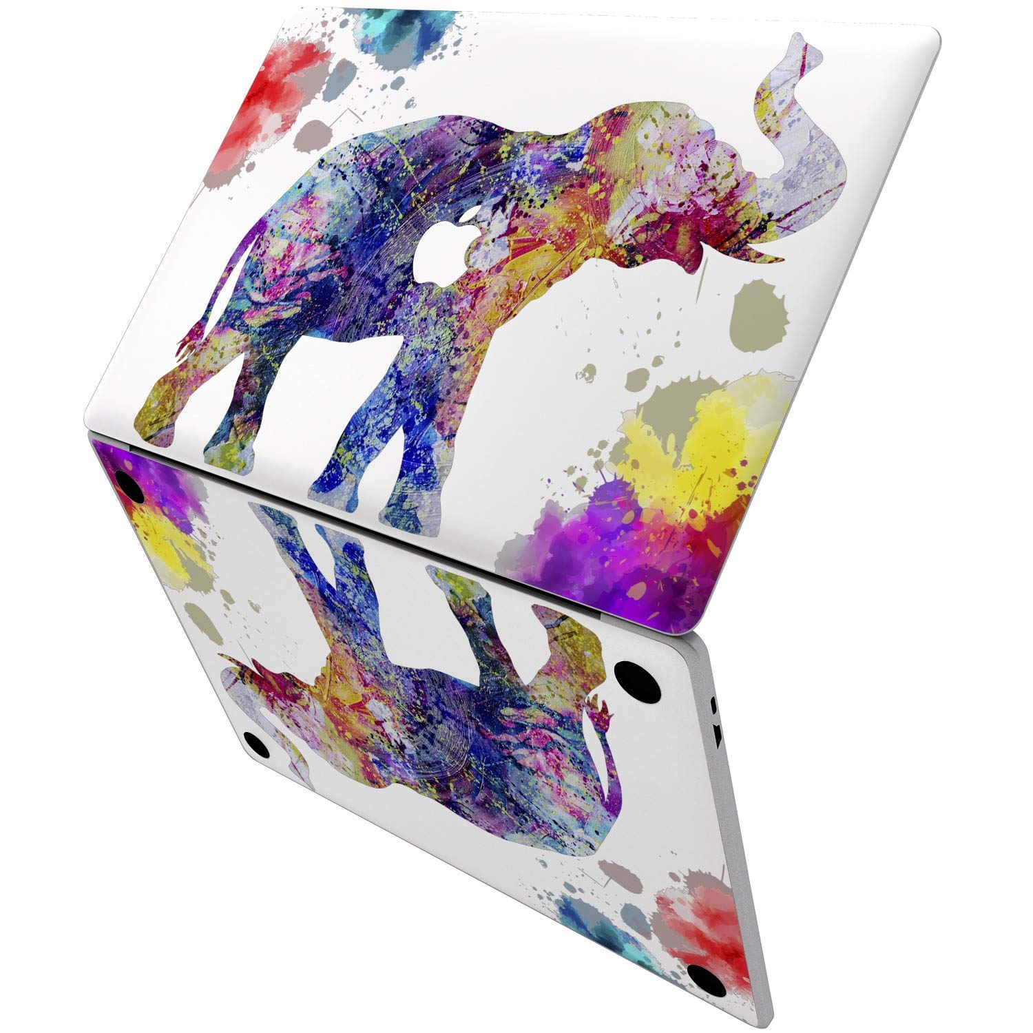 Lex Altern Vinyl Skin for MacBook Air 13 inch Mac Pro 15 Retina 12 11 2019 2018 2017 2016 2015 Watercolor Splash Pattern Nature Pink Elephant Touch Bar Laptop Cover Keyboard Decal Sticker Wrap Girl by Lex Altern (Image #6)