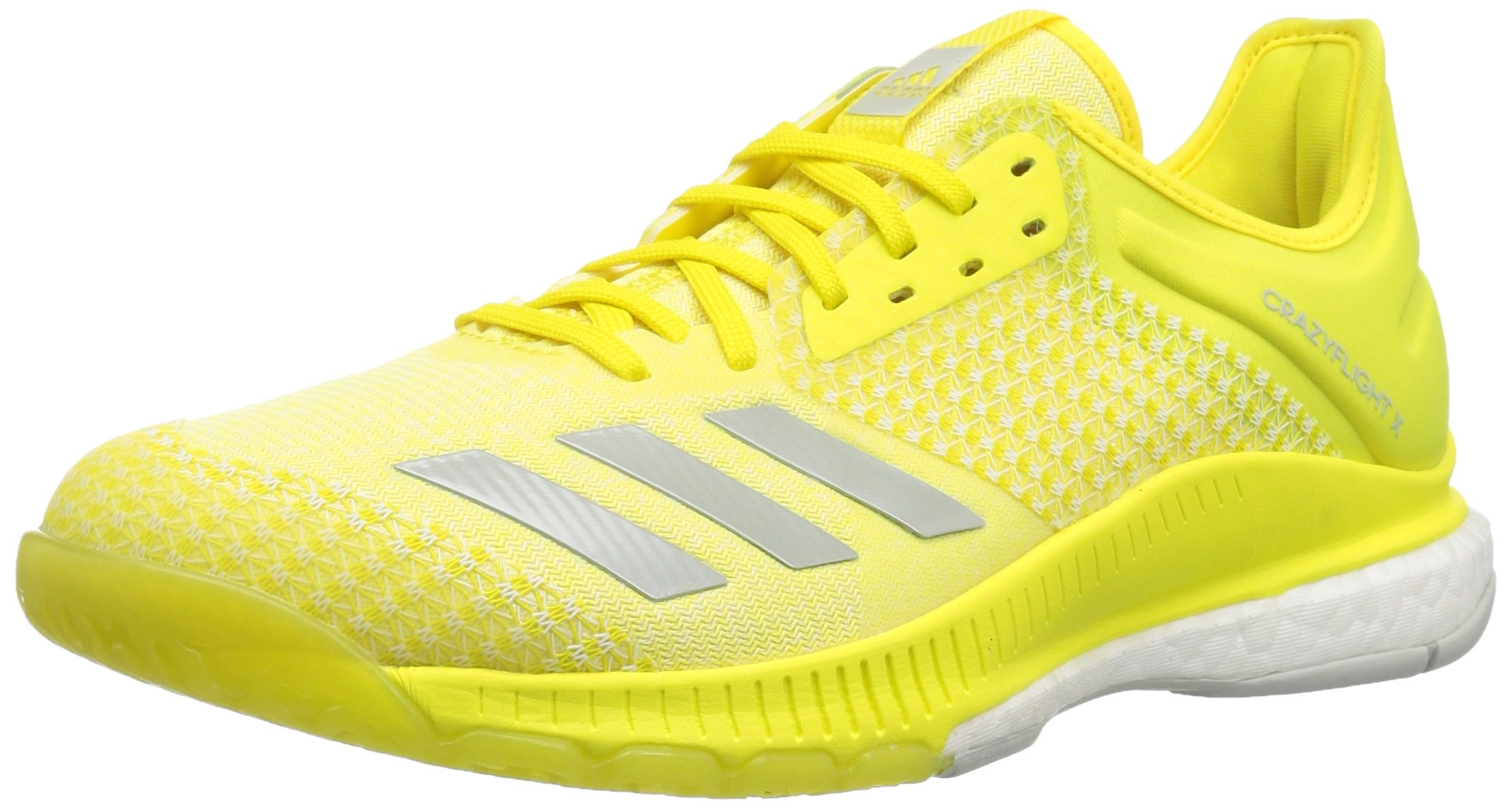 adidas Women's Crazyflight X 2 Volleyball Shoe Shock Yellow/ash Silver/White 5 M US