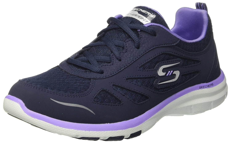 Skechers Galaxies-Enigma, Zapatillas de Entrenamiento para Mujer 37.5 EU Azul (Navy/Purple)