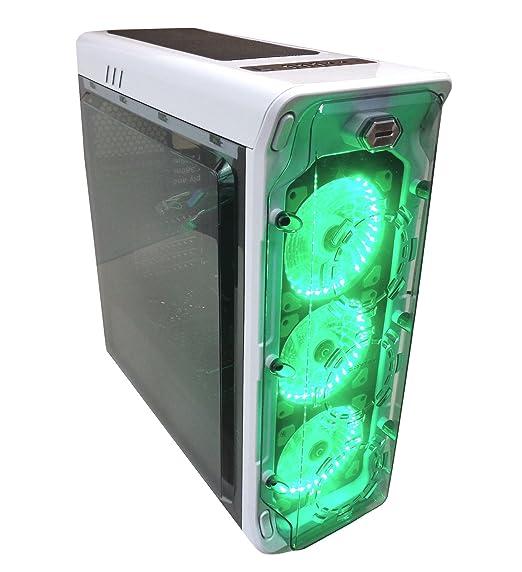 2 opinioni per Cortek GHOSTB Case Gaming, Ghost, Bianco con Luce Verde
