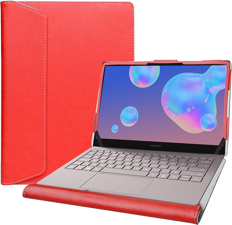 "Alapmk Protective Case for 13.3"" Samsung Galaxy Book S/Galaxy Book Ion 13 NP930XCJ/Galaxy Book Flex α 13 NP730QCJ & ASUS ZenBook 13 UX325JA Laptop[Not fit Galaxy Book Flex 13 NP930QCG],Red"