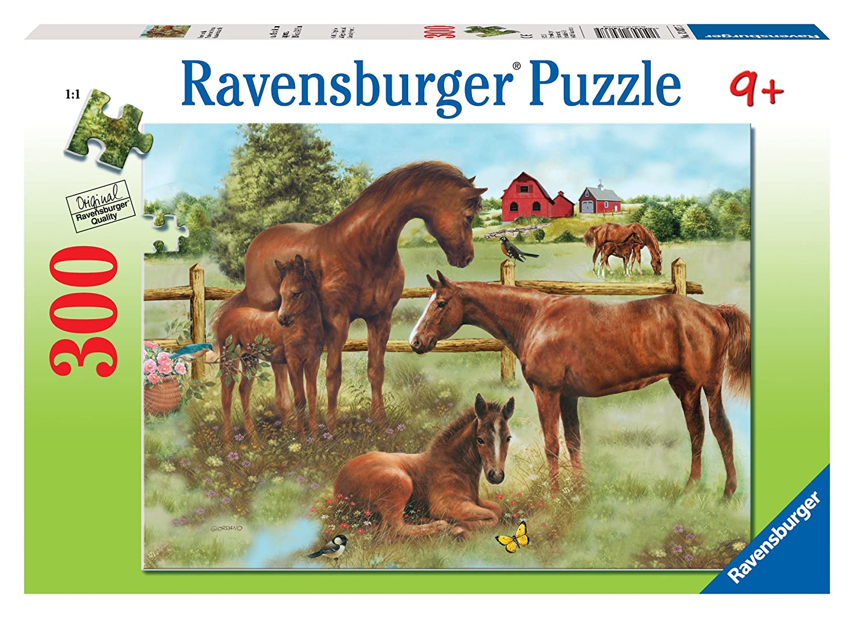 Uncategorized Horse Puzzle amazon com ravensburger horse family 300 pieces puzzle toys games