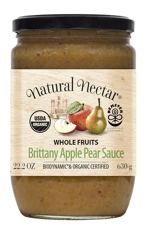 Natural Nectar Biodynamic USDA Organic Sauce, Apple & Pear, 22.2 Ounce (Pack of 6)