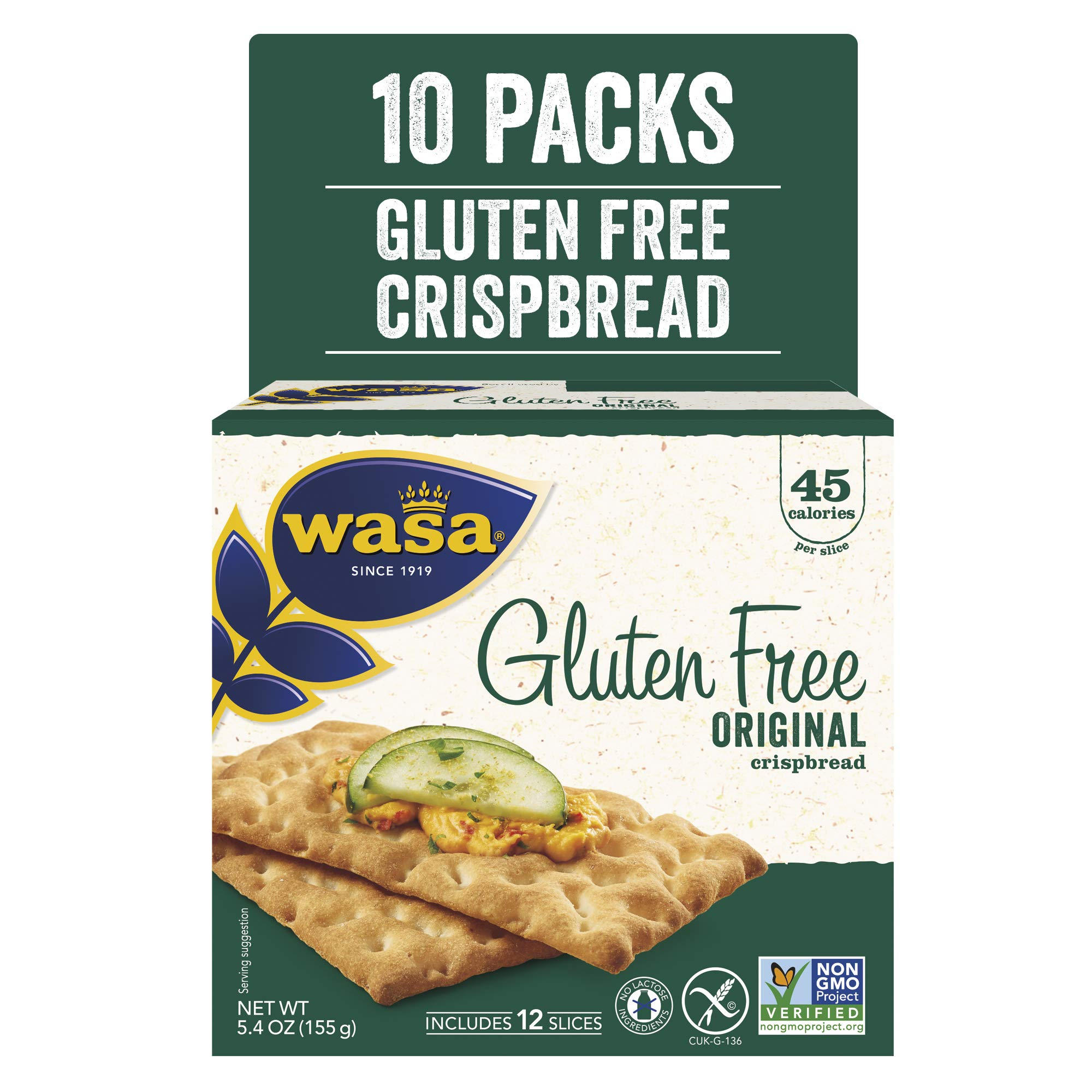 Wasa Gluten Free Original Crispbread, 5.4 Ounce (Pack of 10) by Wasa
