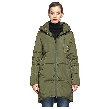 f4da1cf52327 Orolay Women s Stylish Thickened Down Jacket Hooded Coat ArmyGreen XS