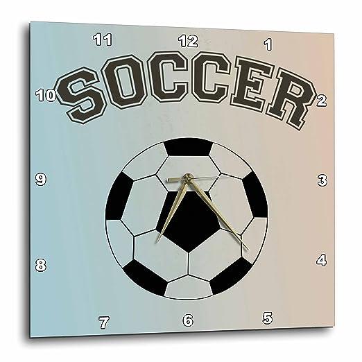 3dRose DPP_195676_3 - Reloj de Pared de balón de fútbol, 38,1 x 38 ...