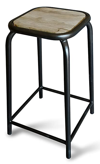 Fine Gayatri Art Exports Wooden Top Bar Stool With Metal Base In Caraccident5 Cool Chair Designs And Ideas Caraccident5Info