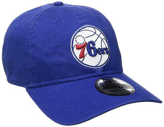 promo code 19365 b9b75 New Era NBA Philadelphia 76ers Core Classic 9Twenty Adjustable Cap, Royal,  One Size