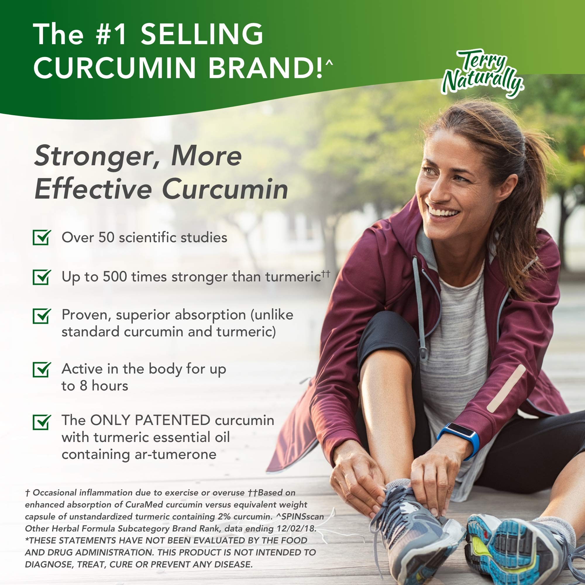 Terry Naturally CuraMed 750 mg - 60 Softgels - Superior Absorption BCM-95 Curcumin Supplement, Promotes Healthy Inflammation Response - Non-GMO, Gluten-Free, Halal - 60 Servings by Terry Naturally (Image #7)