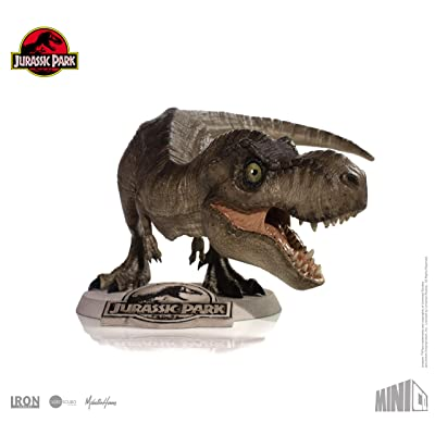 Iron Studios Tyrannosaurus Rex (T-Rex) Collectible Figure Mini Co. Dinosaur Hand Painted PVC Statue - from Jurassic Park Collection - Including Base Display: Toys & Games