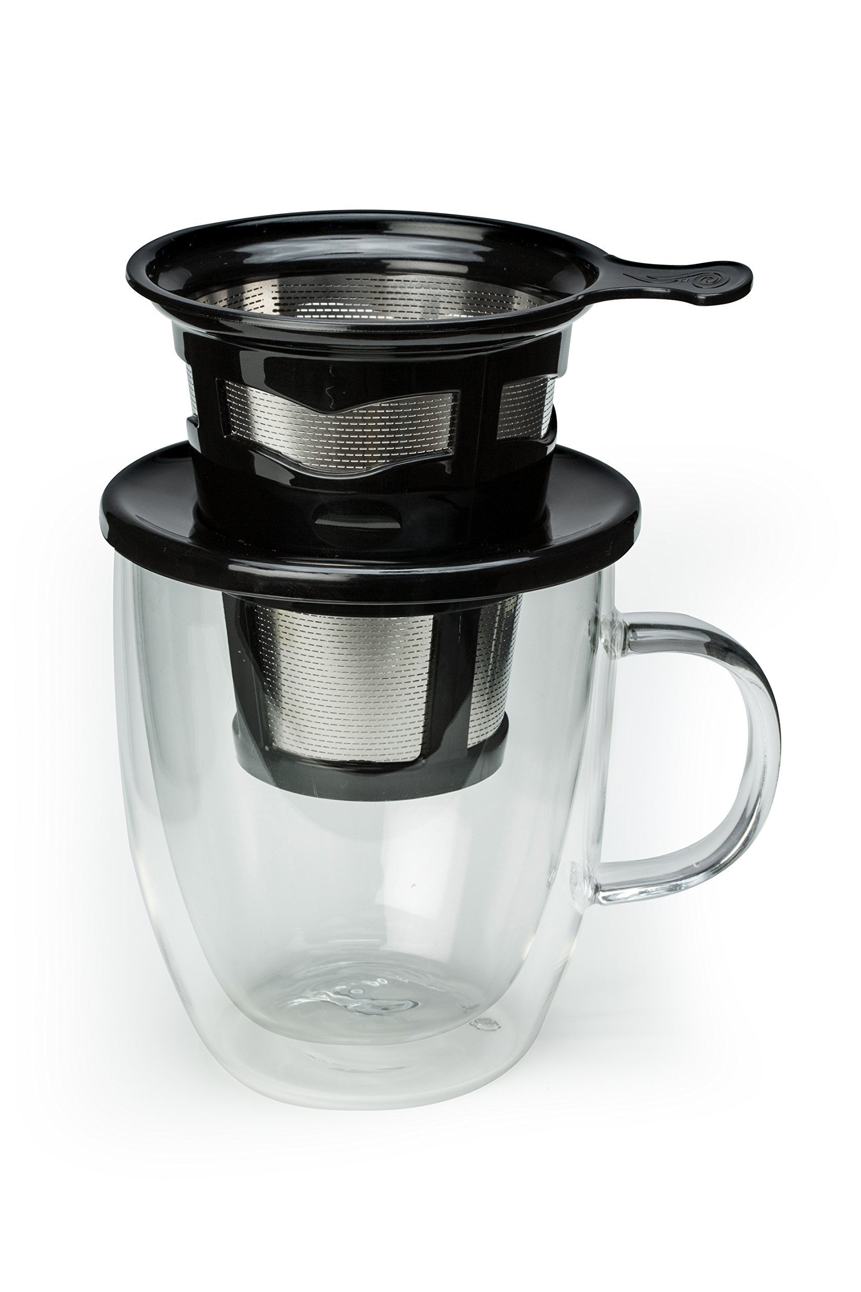 Java Concepts Stainless Reusable Pour Over. Compatible for All Keurig Brewers. Reusable K Pod (Black)