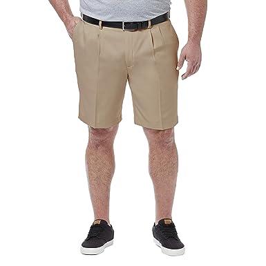 e5a2f581d6 Haggar Men's Big & Tall Cool 18 Pro Pleat Front Short at Amazon ...