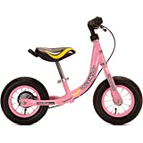 WeeRide Girls' First Baby Balance Bike - Pink, 10 Inch