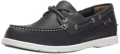 Sebago Men's Liteside Two Eye Boat Shoe, Brown Oiled Waxy Leather/Gum Outsole, 7 M US