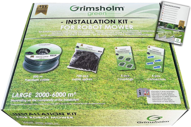 Grimsholm Green - Kit de instalación para cortacésped (200 m o 500 m)