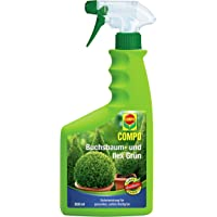 COMPO Buchsbaum- und Ilex Grün für alle Buchsbäume, Stechpalmen (Ilex), Formgehölze auf Balkon, Terrasse und im Garten, Spezial-Blattdünger, 500 ml