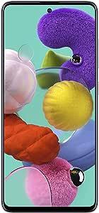 Samsung Galaxy A51, Ultra High-Res Quad Camera, 4K Video, 4G LTE , Dual SIM Smartphone, All Day Battery, KSA Version, White, 128GB