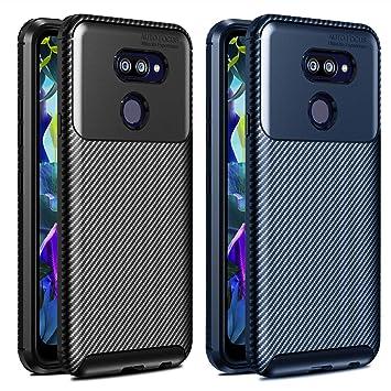 ivoler 2 Unidades Funda para LG K40s 2019, [Fibra de Carbono ...