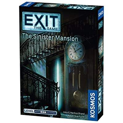 Exit: The Sinister Mansion | Exit: The Game - A Kosmos Game | Family-Friendly, Card-Based at-Home Escape Room Experience for 1 to 4 Players, Ages 12+: Toys & Games