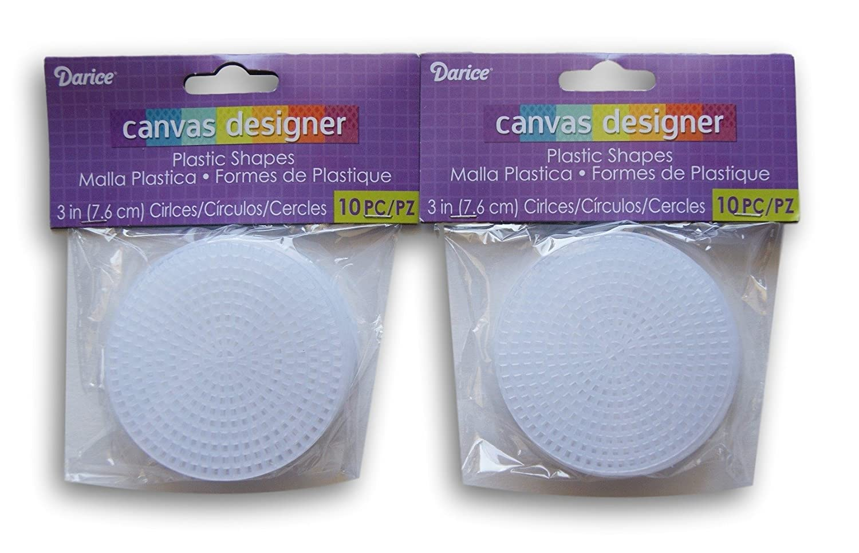 3-20pc Darice Plastic Canvas #7 Circle