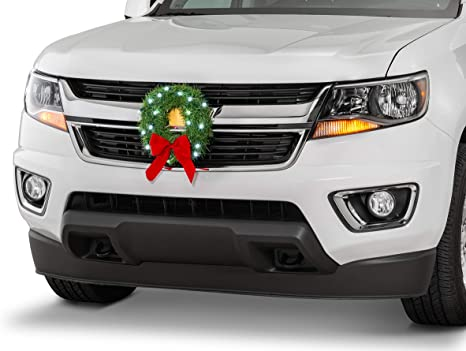 TACTIK Christmas Wreath for Car, Truck, or SUV | 12-Volt LED Lighted on