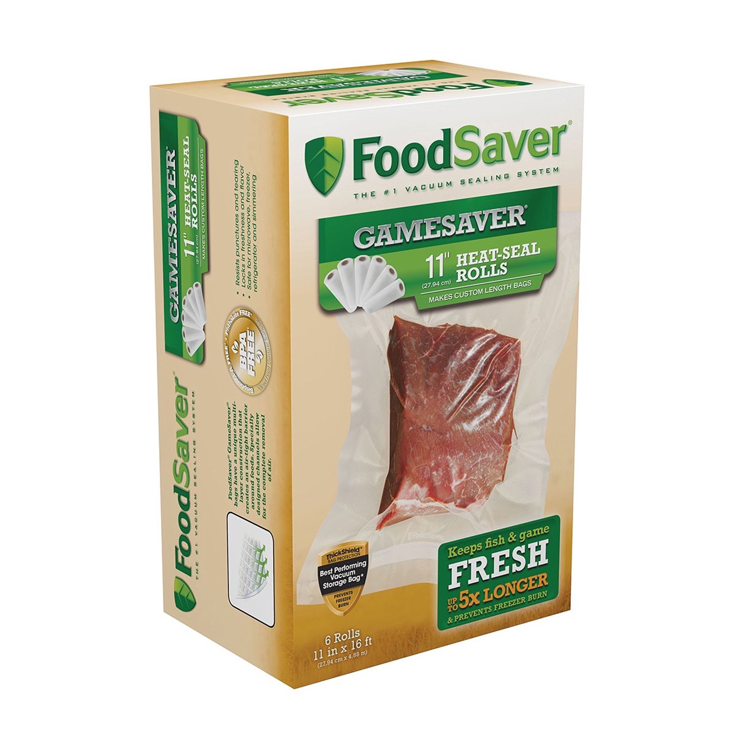 FoodSaver GameSaver 11'' x 16' Vacuum Seal Roll with BPA-Free Multilayer Construction by FoodSaver
