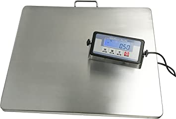 Powered by Batteries or AC Adapter Angel USA Extra Large Platform 22 x 18 Stainless Steel 400lb Heavy Duty Digital Postal Shipping Scale Great for Floor Bench Office Weight Weighing