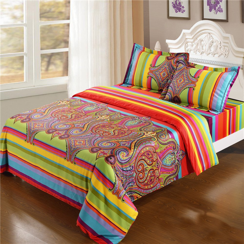 Long-staple Cotton Full/queen Size Duvet Cover Set