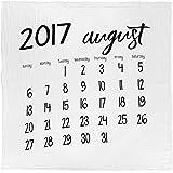 モダンバーラップ Modern Burlap おくるみ 1枚 オーガニック コットン モスリン スワドル ブランケット カレンダー AUGUST 2017