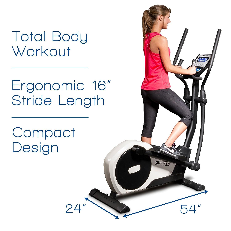 Xterra Fitness fs3.0 máquina elíptica entrenador: Amazon.es: Deportes y aire libre