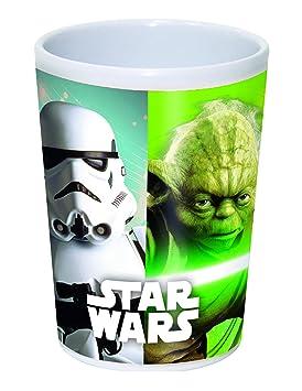 COOLMP - Juego de 3 Vasos de plástico melamina Star Wars 200 ...