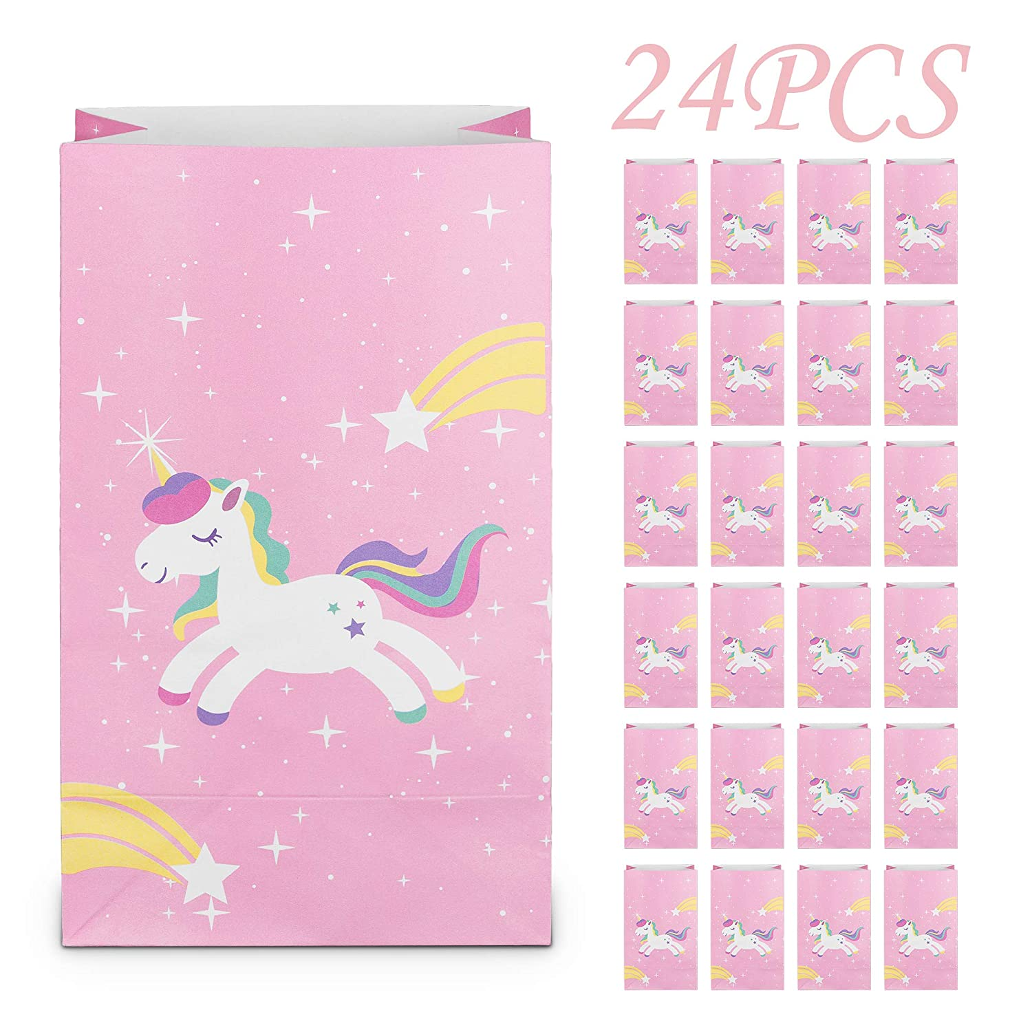 Amazon LesDay Unicorn Party Gift Bags Favors Supplies Goodie Magic Addition For Kids Birthday Decorations