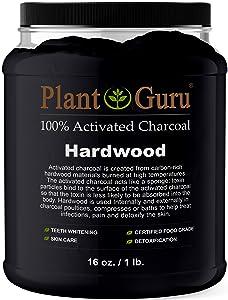 Activated Charcoal Powder Bulk - 1 lb. Jar - HARDWOOD - Food Grade Kosher Non-GMO - Teeth Whitening, Facial Mask and Soap Making. Promotes Natural Detoxification and Helps Digestion
