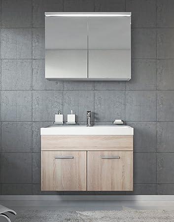 Awesome Badezimmer Badmbel Paso Cm Waschbecken Sonoma Schrank Waschbecken  Schrank With Bad Waschbecken Mit Schrank. Wunderbare Dekoration ...