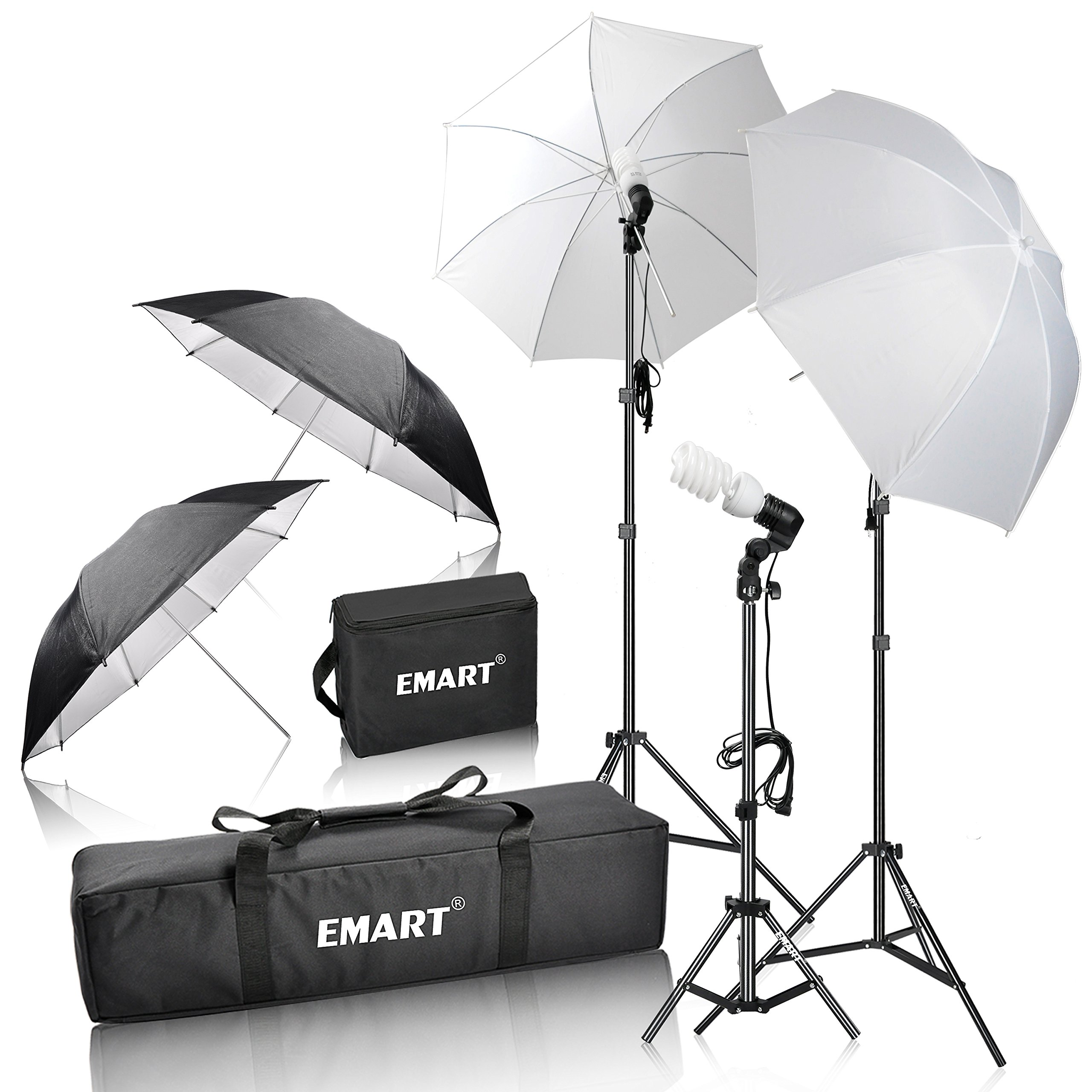 Emart 600W Photography Photo Video Portrait Studio Day Light Umbrella Continuous Lighting Kit by EMART