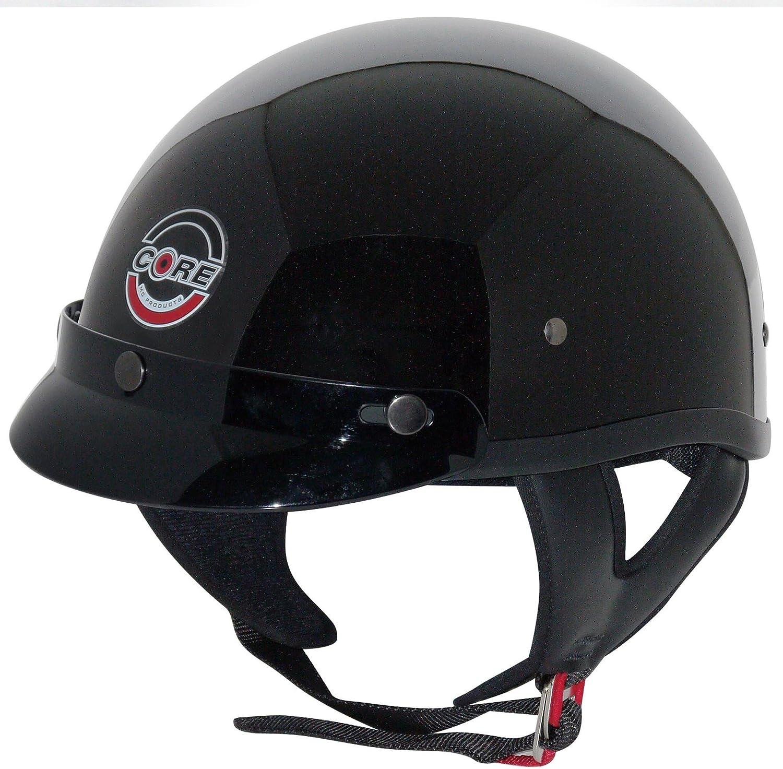 White, Medium Core Cruiser Shorty Half Helmet