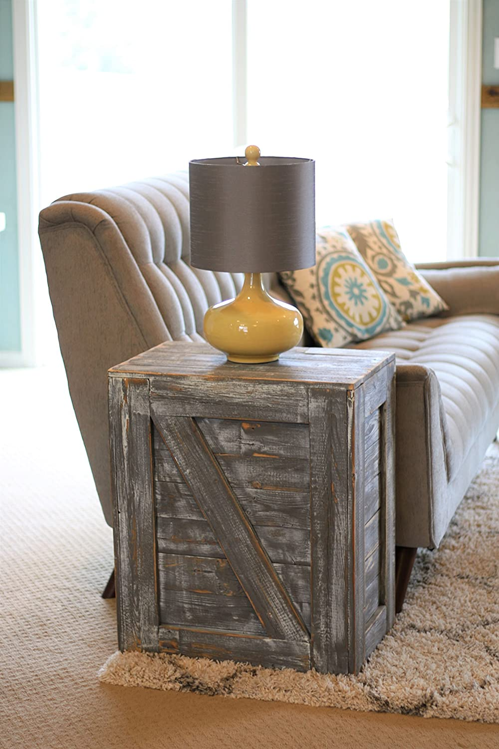 Weathered Gray End Table