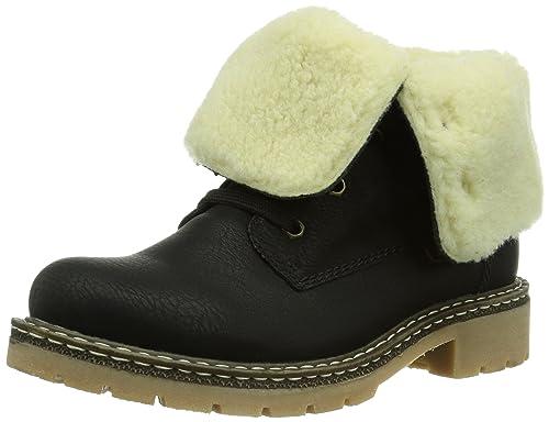 Y1421 - botas de caño bajo Mujer, color Negro, talla 40 Rieker