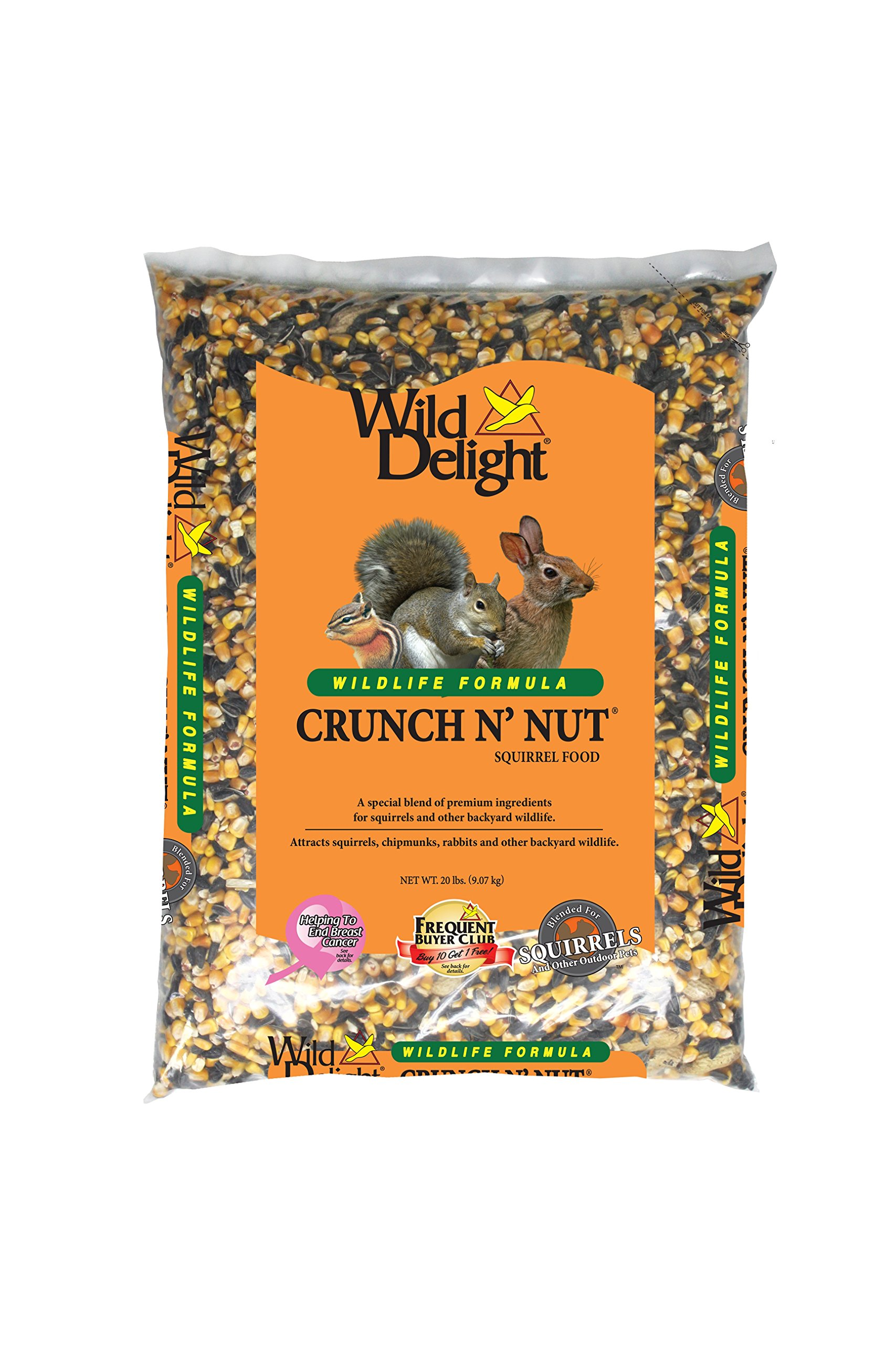 Wild Delight Crunch N' Nut Squirrel Food, 20 lb by Wild Delight