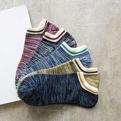 Calcetines Male 5 Pairssocks, algodón, algodón fino, cintura baja, bajo, para