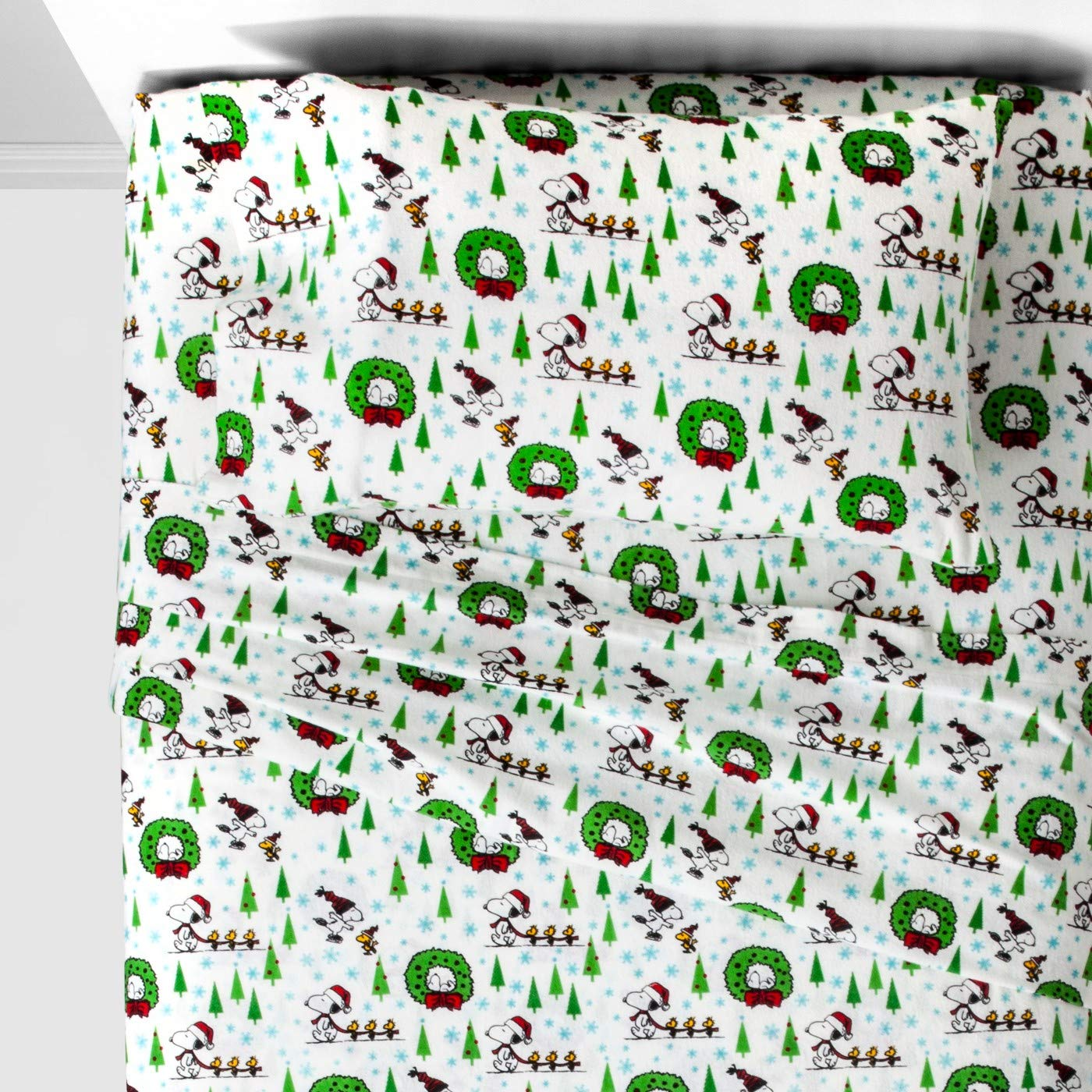 Twin Peanuts Snoopy 3pc Flannel Sheet Set