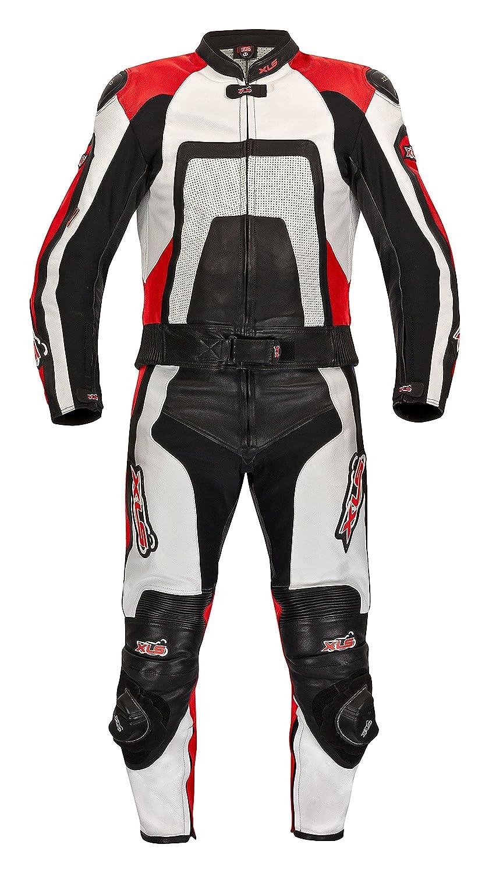 /62 Piel combinado Dos Negro de alta calidad Blanco de rojo de XLS Talla 46/