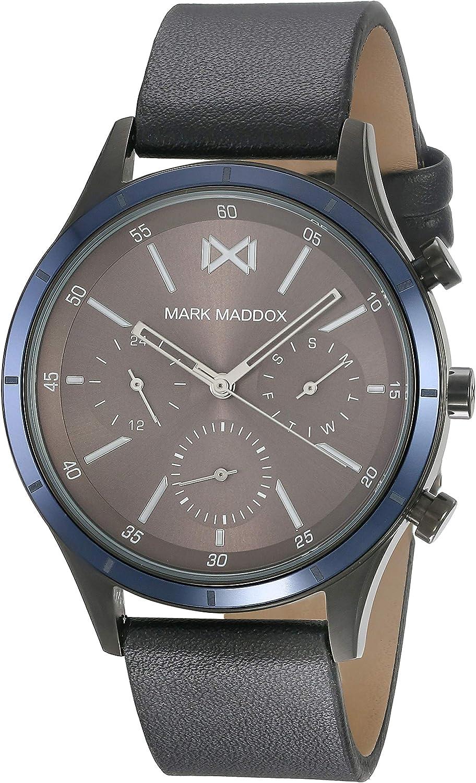 Mark Maddox HC7115-47 Reloj de Hombre Cuarzo Multifunción Acero IP Gun Tamaño 42 mm
