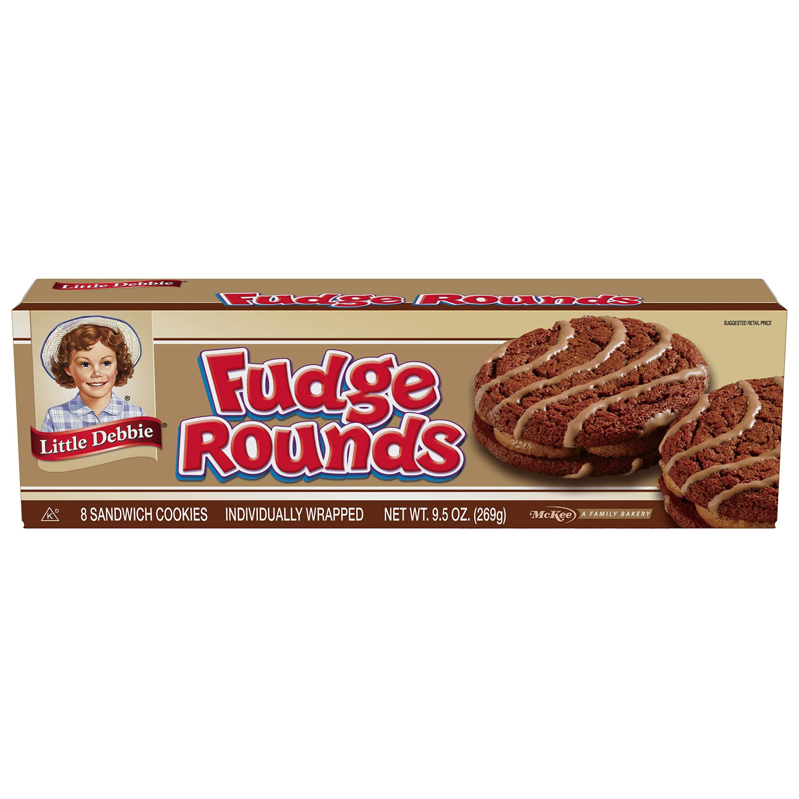 Little Debbie Fudge Rounds, 9.5 oz (1 Box) by Little Debbie